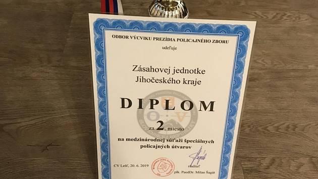 Z mezinárodní soutěže si jihočeská zásahovka přivezla druhé místo.