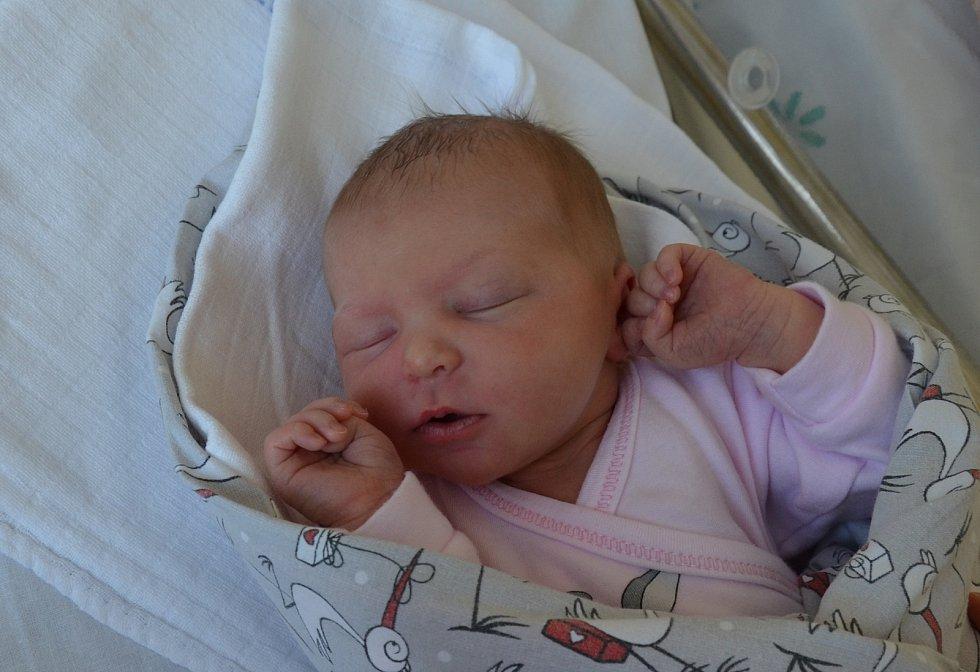 Zuzana Kozáková z Milevska. Prvorozená dcera Soni a Michala Kozákových se narodila 28. 3. 2021 v 8.45 hodin. Při narození vážila 2950 g a měřila 49 cm.
