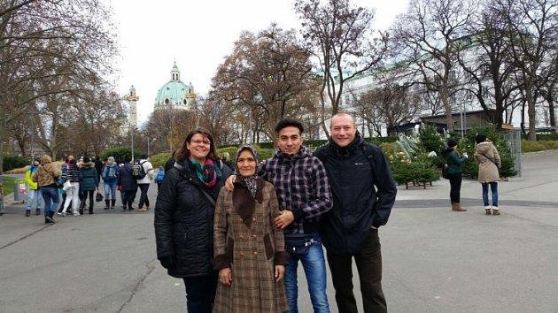 Vzali azylanty na výlet do Vídně.