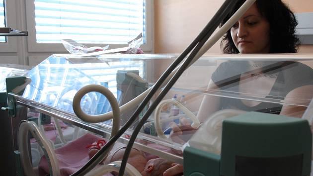 Lucie Krnínská má konečně svá dvojčata, třebaže v inkubátorech, u sebe na nemocničním pokoji.