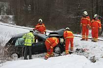 Smrtelné následky měla i prosincová nehoda na trati v Chrobolech na Prachaticku. Zemřel při ní starší muž.
