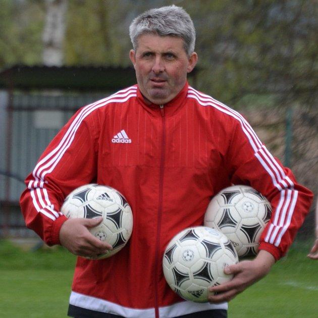Jiří Reitinger, šéf  fotbalistů Křemže a také aktivní stolní tenista.