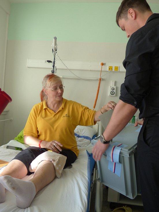 Nové poslance vybírali v pátek i pacienti českobudějovické nemocnice.
