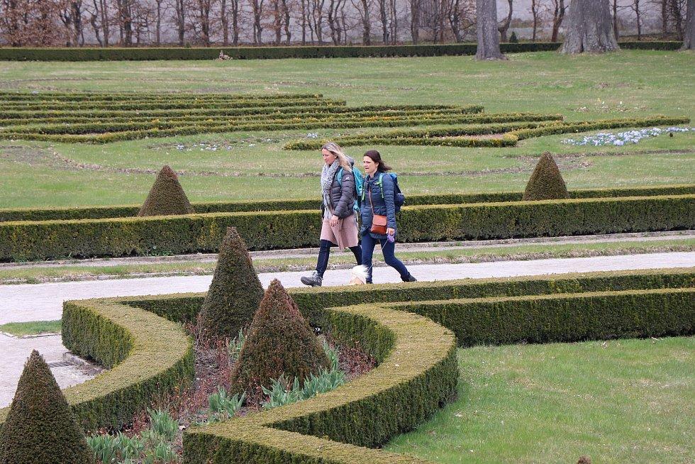 Zámecká zahrada zámku Český Krumlov je otevřena