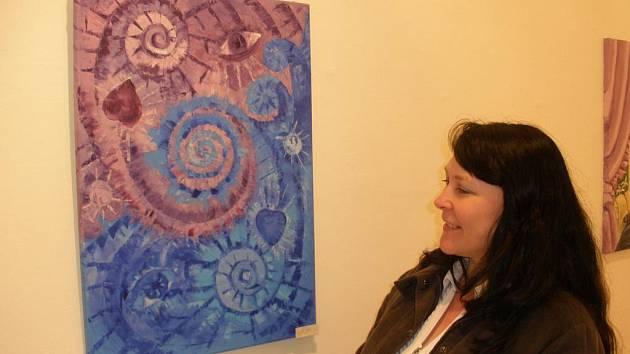 Ruská malířka Jelena Žukovská maluje i pocitové obrazy.
