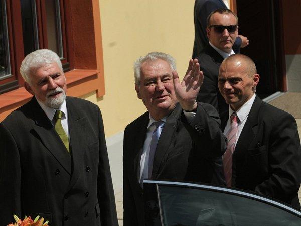Prezident Miloš Zeman urestaurace Pěšárna.