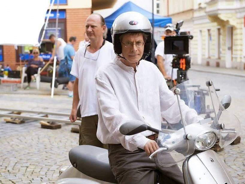 Snímky z natáčení filmu Donšajni v Táboře.
