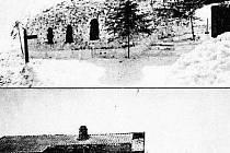 Sněhový kostel před 100 lety.
