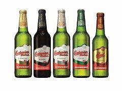 Nové lahve piv značky Budweiser Budvar.