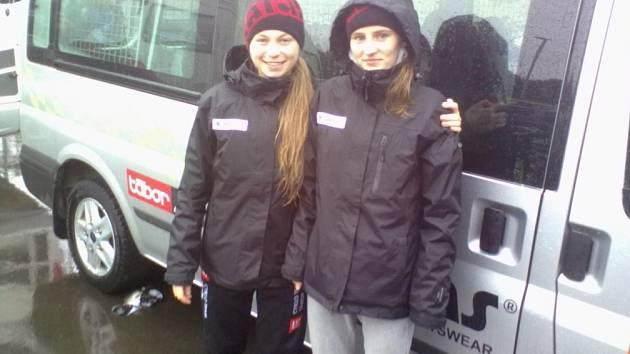 KAMARÁDKY. Denisa Lukešová (vlevo) a Denisa Mináriková - Švecová na mistrovství světa v Zolderu rozhodně nezklamaly.