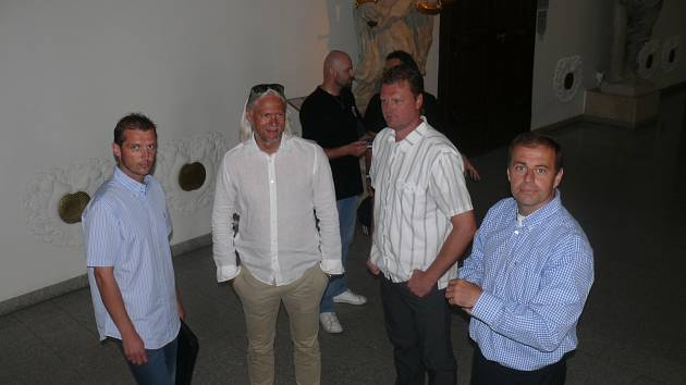 Vedení klubu ČEZ Motor (zleva) Sailer, Bednařík, Turek a Bělohlav