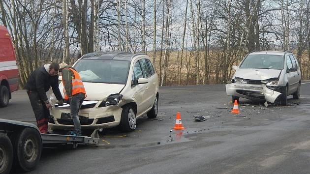 Nehoda u Strážkovic.