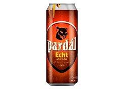 Světlý ležák Pardál Echt v plechovce.