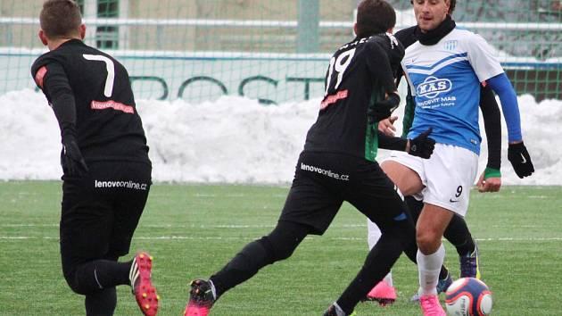 Fotbalisté Táborska v Tipsport lize porazili Příbram 2:0. Na snímku z tohoto utkání v akci Adnan Džafič.