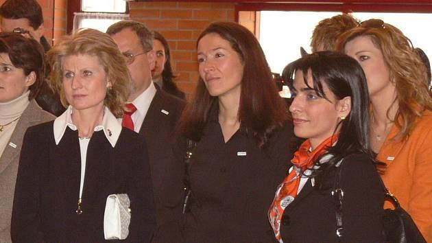Družky ministrů v českobudějovické Arpidě.