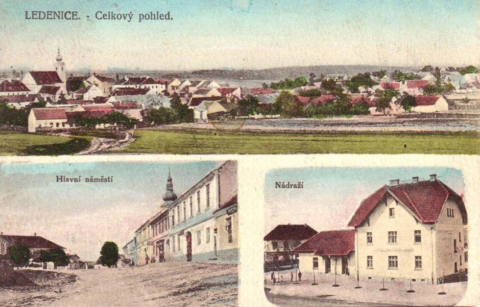 Ledenice v současnosti a v minulosti.