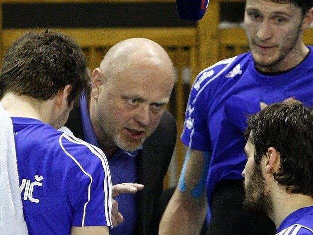 Trenér volejbalistů Ostravy Zdeněk Šmejkal.
