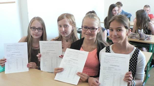 Vysvědčení dostali v pátek 26. června i žáci I. B na Biskupském gymnáziu v Českých Budějovicích.