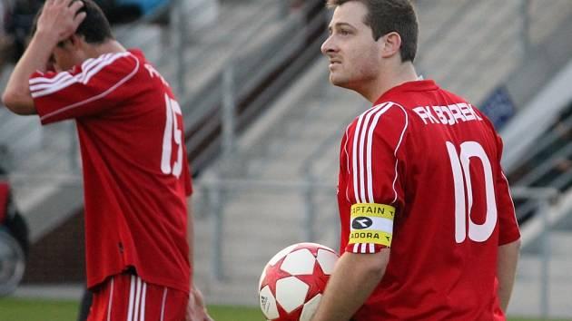 Nejlepší střelec a kapitán Borku Tomáš Tengl.