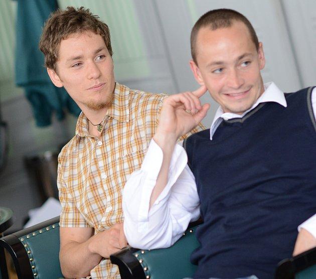 Vlastimil Hanuš (vlevo) uspěl v biologické olympiádě.