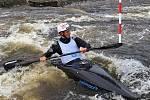 Peřeje pod Lipnem obsadí vodáci. Na snímku juniorský vicemistr světa Jakub Krejčí.