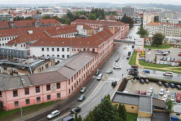 Výhled zVodárenské věže vČeských Budějovicích.