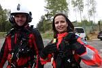 Jihočeští letečtí záchranáři cvičili na letišti v Plané