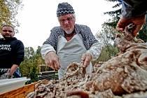 Klasickou českou zabijačku a všechno, co k ní patří, předvedli v sobotu lidem na Borovanském mlýně. Závodilo se i v přípravě nejlepší jitrnice.