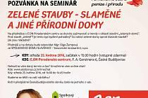 Seminář Zelené stavby - slaměné a jiné přírodní domy.