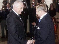 Prezident Václav Klaus v poslední době kritickými výroky na adresu Václava Havla nešetří.