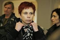 Eva Rajtmajerová před trestním soudem.