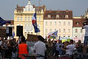V úterý 11. června se proti Andreji Babišovi demonstrovalo také v Českých Budějovicích.