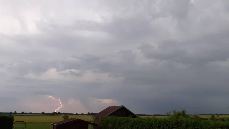 Bouřka v Lišově.