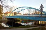 Modrý most v Českých Budějovicích. Od 12. 4. 2021 bude uzavřen kvůli opravě.