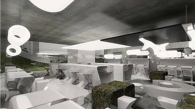 Návrh restaurace jihočeských architektů.
