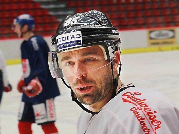 Milan Gulaš na tréninku Motoru České Budějovice.