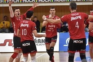Českobudějovický volejbalový tým porazil Od. Vodu 3:1 na sety a na přelomu roku je na druhém místě.