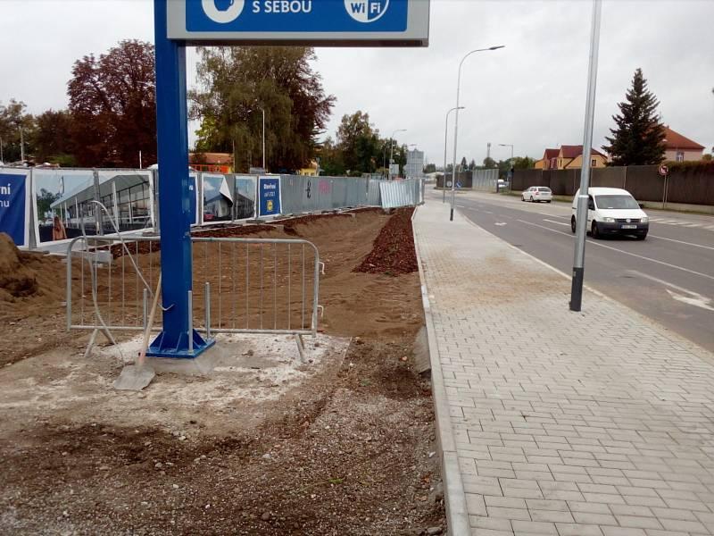 Stavba pro Lidl v Českých Budějovicích v září 2021.