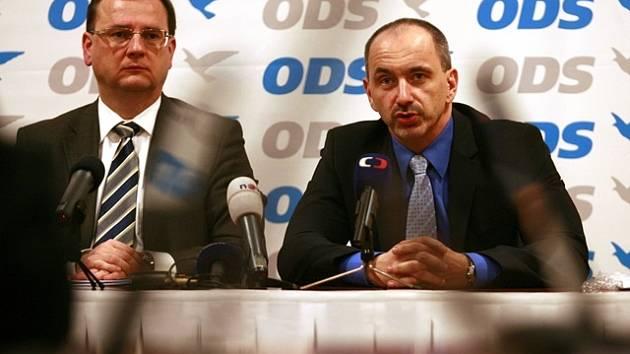 Petr Nečas a Martin Kuba.