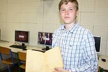 Rodinné dědictví opatruje Lukáš Přílepek. Po prapradědečkovi mu zůstal deník i noviny.