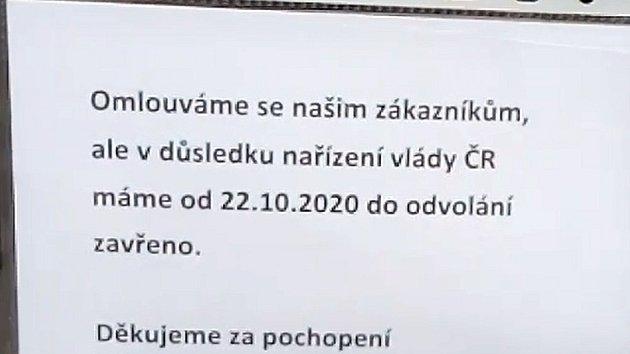 Uzavírání provozoven na jihu Čech
