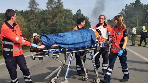 Nehoda autobusu u Plané nad Lužnicí.