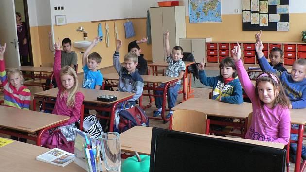 První školní den na ZŠ a MŠ v Nové ulici.