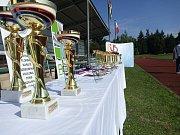 Oficiální hosté, tanečky, úctyhodné sportovní výkony. Sportovní hry seniorů