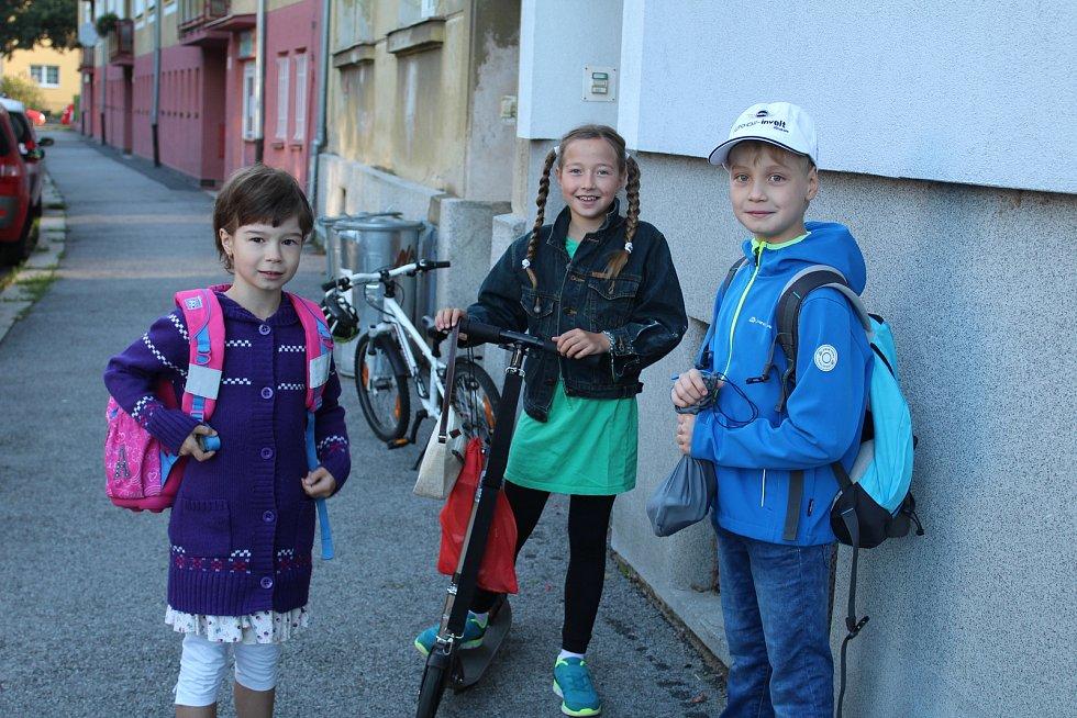 První školní den na ZŠ Dukelská