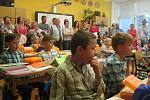 První školní den v 1. A ZŠ Malá Strana Týn nad Vltavou.