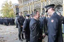 Letošní předávání cen hasičům na Hluboké.