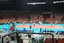 Česká volejbalová reprezentace v duelu s Itálií