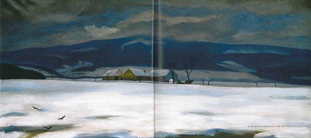Hora Kleť vábí malíře přes dvě století. Na snímku plátno Krajina sKletí, které vroce 1937namaloval Ota Matoušek.