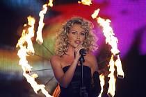 Půvab  nechyběl Martině od začátku soutěže. Snímek je z prvního finálovémho večera soutěže X Factor v březnu tohoto roku.